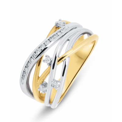 Bague 2 Ors Diamant (0.151ct)