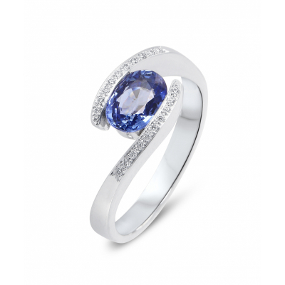 4e082efcd06 Bague Saphir Bleu
