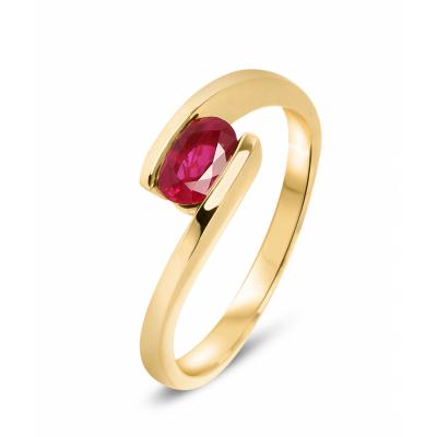 Bague Rubis Pierre ovale 0.69 carat