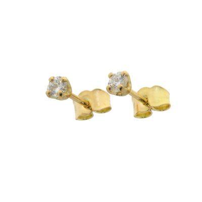 Boucles d'oreilles Or Jaune  Diamant 0.29ct GVS
