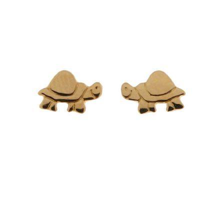 Boucles d'oreilles tortues en Or Jaune