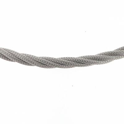 Collier 4 rangs entrelacés en Argent 925 rhodié