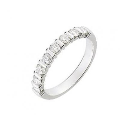 demi alliance diamant serti barrettes ref 24988. Black Bedroom Furniture Sets. Home Design Ideas