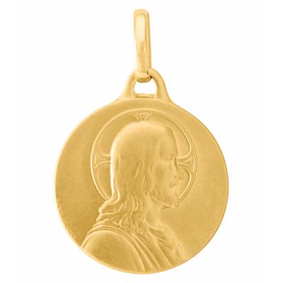 Médaille Or  Jaune 750 Christ de Profil 18mm