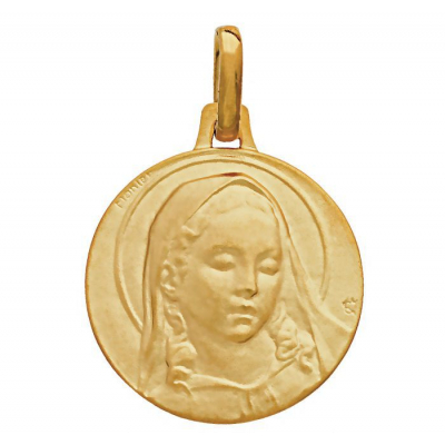 Médaille Or  Jaune 750 Vierge de Botticelli 17mm