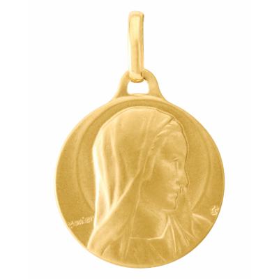 Médaille Or  Jaune 750 Vierge de Monnier 18mm