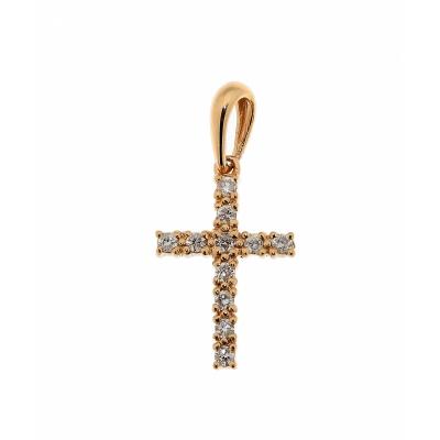 collier croix femme diamant