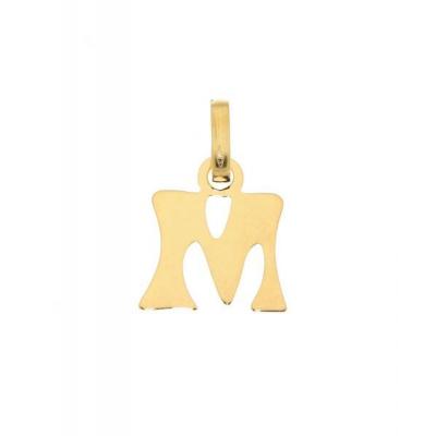 Pendentif Lettre M / Initiale M en Or Jaune 375