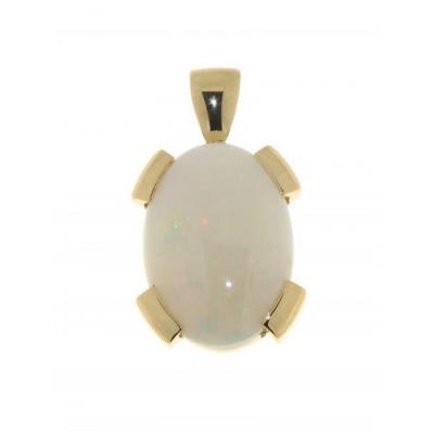 Pendentif Or Jaune Opale 18x13mm