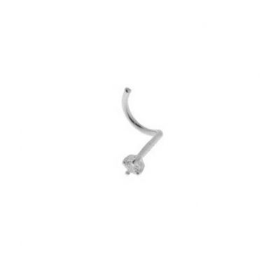 Piercing Or Blanc Diamant  1.5mm