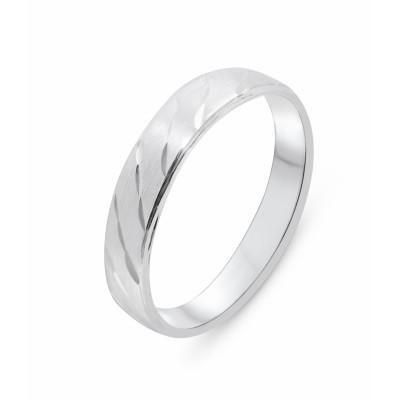 Alliance Argent Effet diamanté 5mm