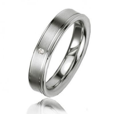 Alliance Diamant Argent Platiné 4.5mm
