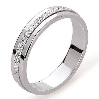 Nouveaux produits fc1b0 28d8d Alliance Or Blanc Diamantée Ref. BALI 4.5MM OG   Bijouterie Trabbia  Vuillermoz