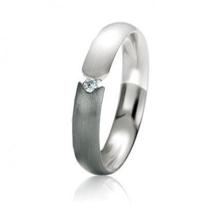 Alliance Or Diamant Black & White 4mm