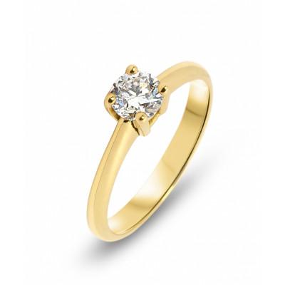 bas prix bb202 31d5c Bague Solitaire Or Jaune 750 Diamant 0,50 carat Ref. 44079 | Bijouterie  Trabbia Vuillermoz