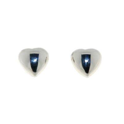 Boucles d'oreilles Coeurs Argent