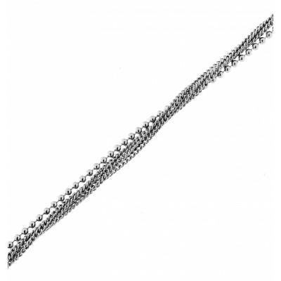 Bracelet argent rhodié multi rangs
