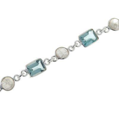 site réputé 8ab7b 32165 Bracelet Argent Topaze Bleue et Labradorite Ref. 33268   Bijouterie Trabbia  Vuillermoz