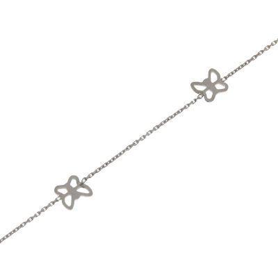 Bracelet enfant Or Blanc motifs papillions