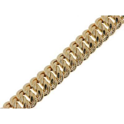 Bracelet Maille Américaine 8mm - 19cm Or Jaune 750