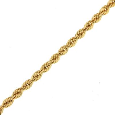 Bracelet maille corde en Or Jaune 375  4.4mm x 19cm