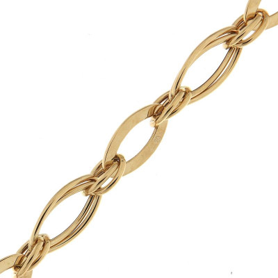 Bracelet maille fantaisie en Or Jaune 750 8mm x 19cm
