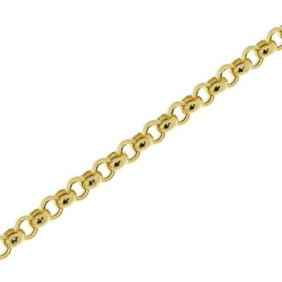 Bracelet Maille Jaseron 4mm x 18cm Or Jaune 750