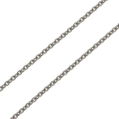 Chaine Or Blanc 750 maille forçat ronde 1,2mm - 42cm