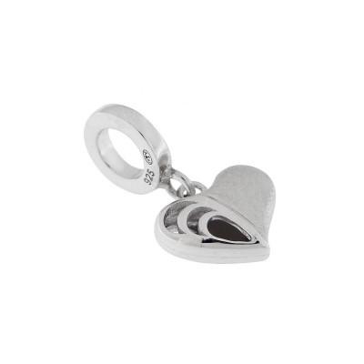 Charm Pendentif Coeur en Argent 925 rhodié