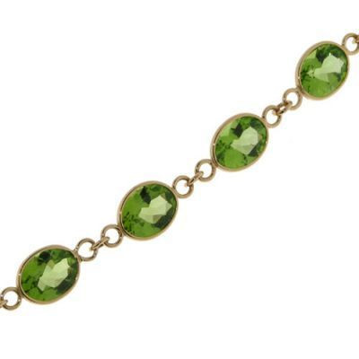 collier homme peridot