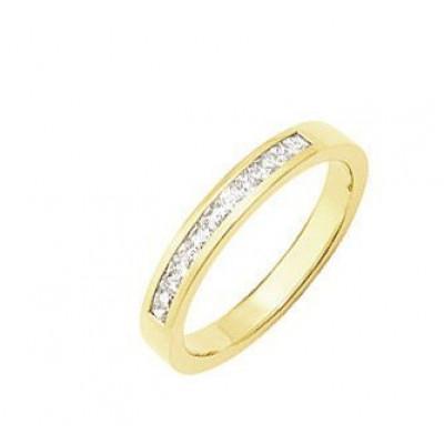 Demi Alliance Diamant Princesse 0.28 carat