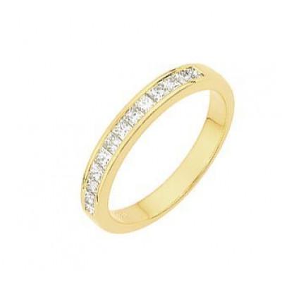 Demi Alliance Diamant Princesse 0.50 carat