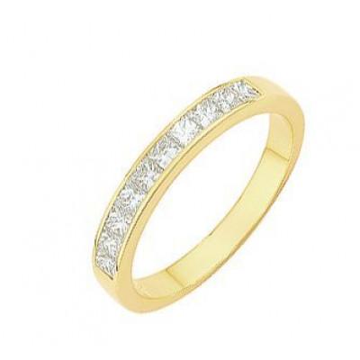 Demi Alliance Diamant Princesse 0.70 carat