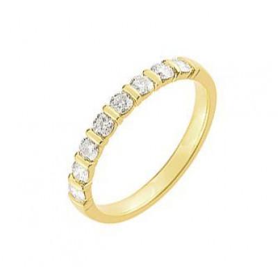 Demi Alliance Diamant serti barrettes 0.40 carat