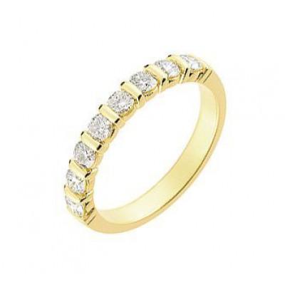 Demi Alliance Diamant serti barrettes 0.75 carat