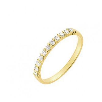 Demi Alliance Diamant serti griffes 0.20 carat