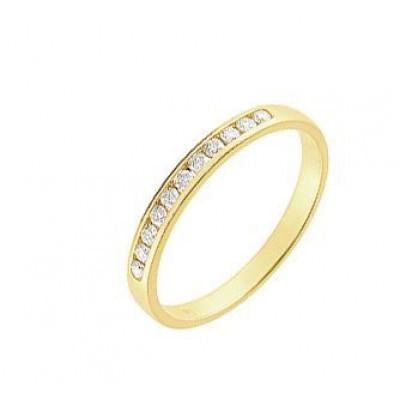 Demi Alliance Diamant serti rail 0.10 carat