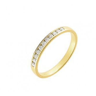 Demi Alliance Diamant serti rail 0.15 carat