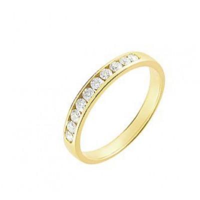 Demi Alliance Diamant serti rail 0.25 carat