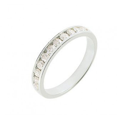 Demi Alliance Diamant serti rail 0.50 carat