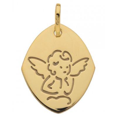 Médaille Moderne  Ange Or Jaune 750