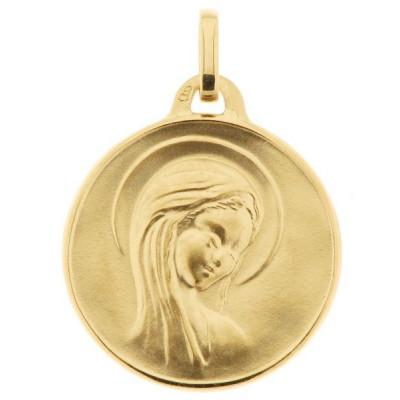 Médaille Vierge Or Jaune 750 (18mm)