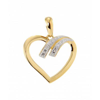 Pendentif Coeur Or Jaune 750 Diamant