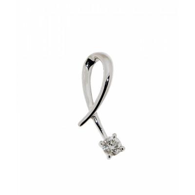 Pendentif Croisé Or Blanc Diamant