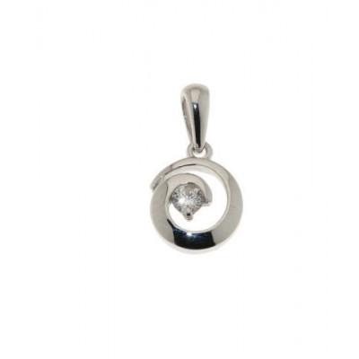 Pendentif Diamant Or Blanc 0.073 carat