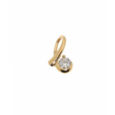 Pendentif Diamant Or Jaune 0.106 carat