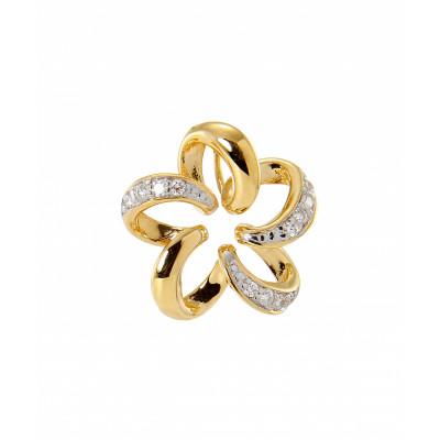 Pendentif Fleur Or Jaune  750 Diamant