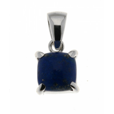 Pendentif Lapis Lazuli Coussin 10mm en Argent 925