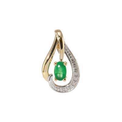 Pendentif Or 375 Emeraude et Diamant
