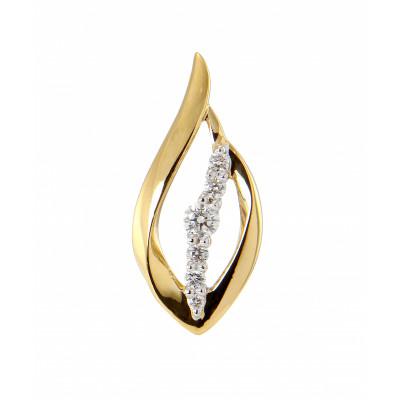 Pendentif Or 750 2 tons Diamant